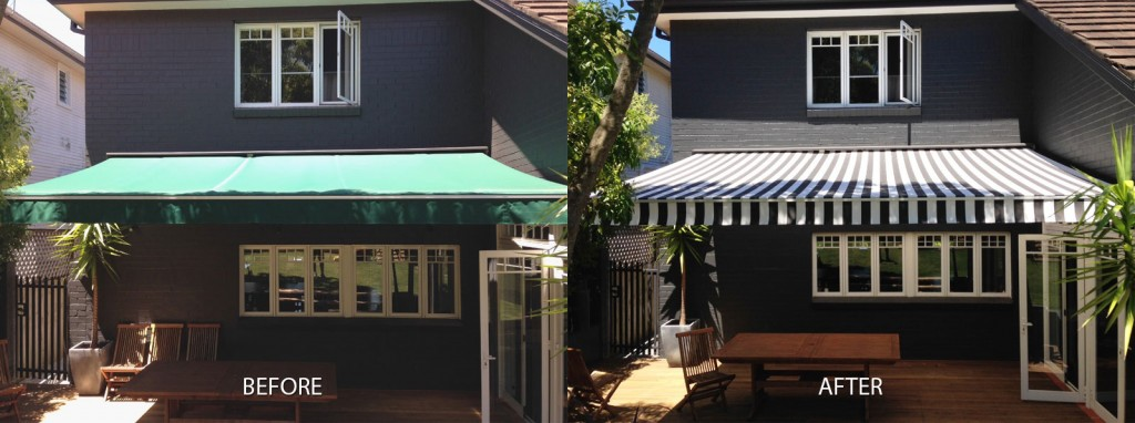 Before And After Replacement Fabric Awnings Gallery