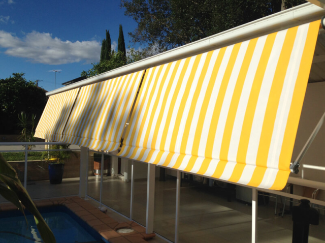 A Convertible Awning Outdoor Blind